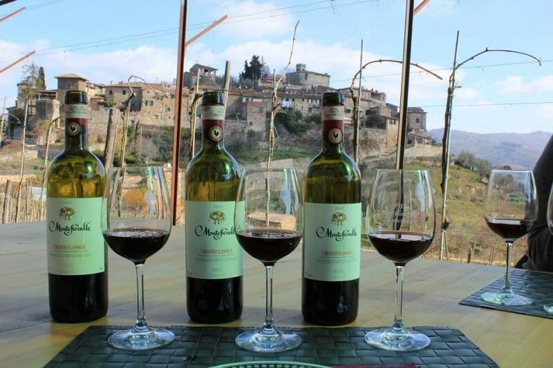 Vinhos da vinícola Montefioralle