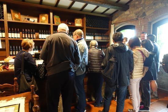Loja da vinícola Poggio Antico