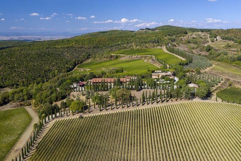 Propriedade da vinícola Poggio Antico em Montalcino