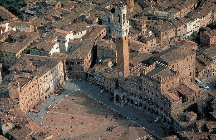 Palazzo Comunale visto do alto