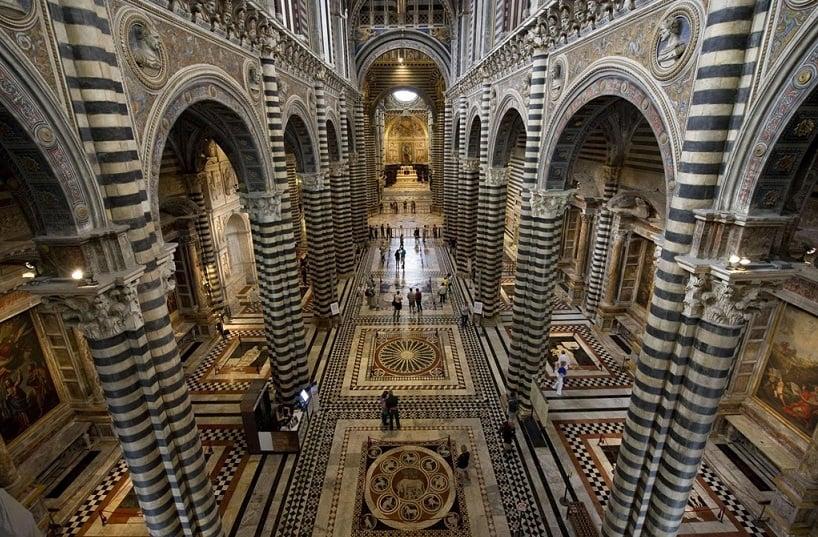 Interior da Catedral visto de cima