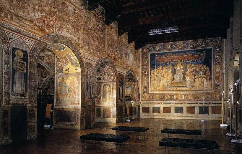 Interior do Palazzo Comunale em Siena
