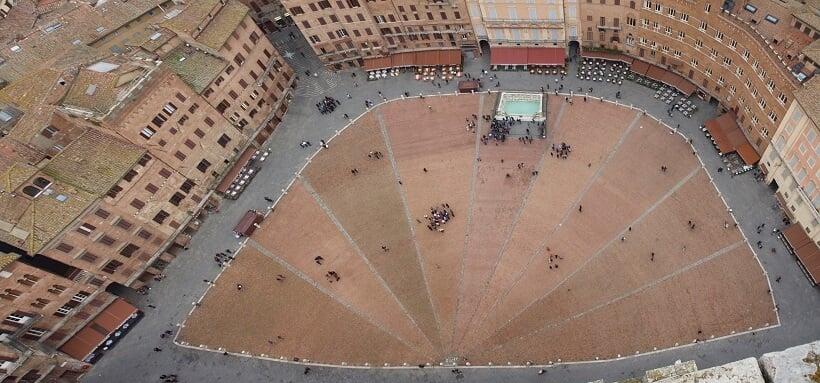 Piazza del Campo vista de cima