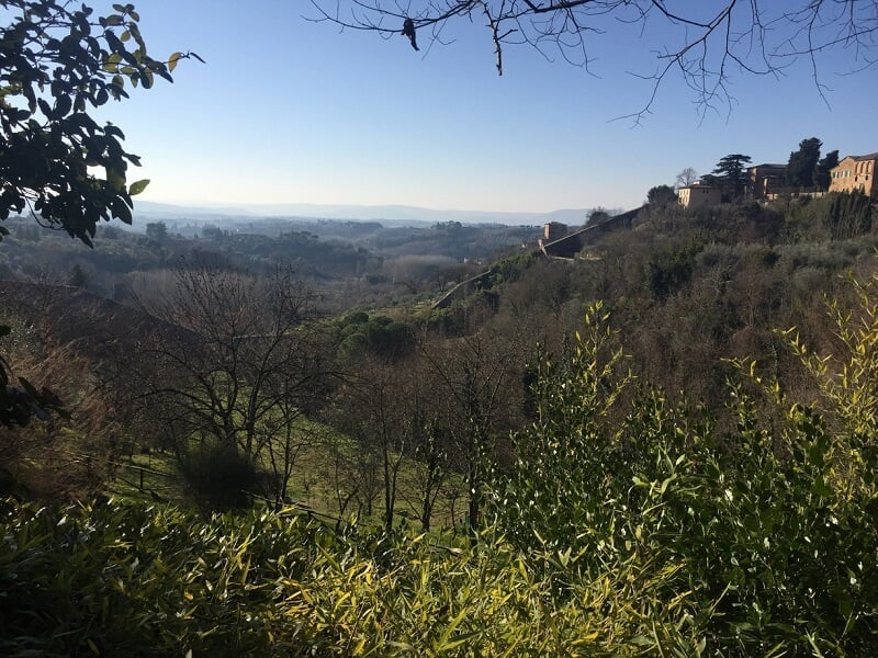 Paisagem vista no Orto Botânico dell'Universitá di Siena