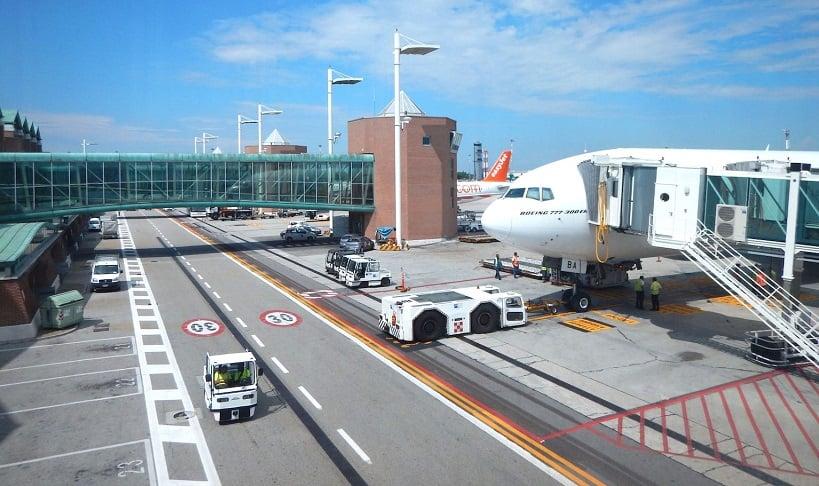 Aeroporto de Veneza na Itália