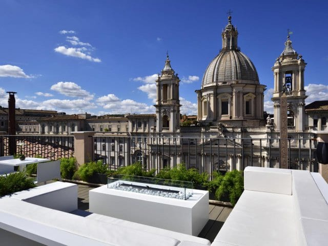 Hotéis no centro turístico de Roma