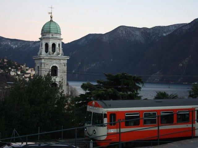 Viagem de trem de Milão a Lugano