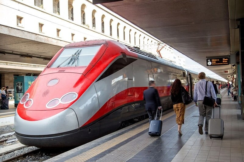 Estação de trem em Roma