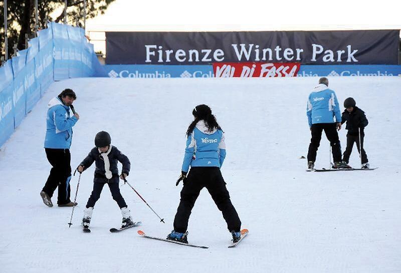 Pessoas se divertindo no Florence Winter Park