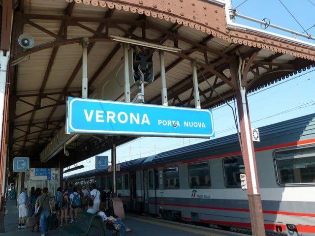 Viagem de trem de Verona a Veneza