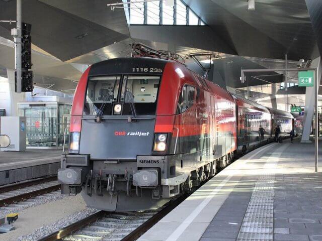 Viagem de trem de Veneza a Viena