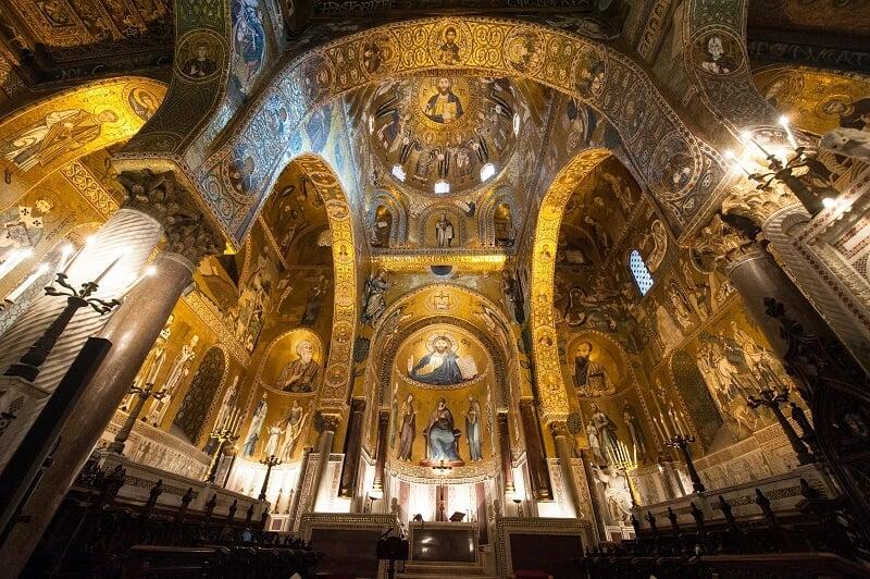 Capela Palatina em Palermo na Sicília