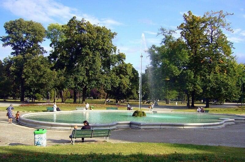 Parque Giardini Pubblici di Porta Venezia em Milão na Itália