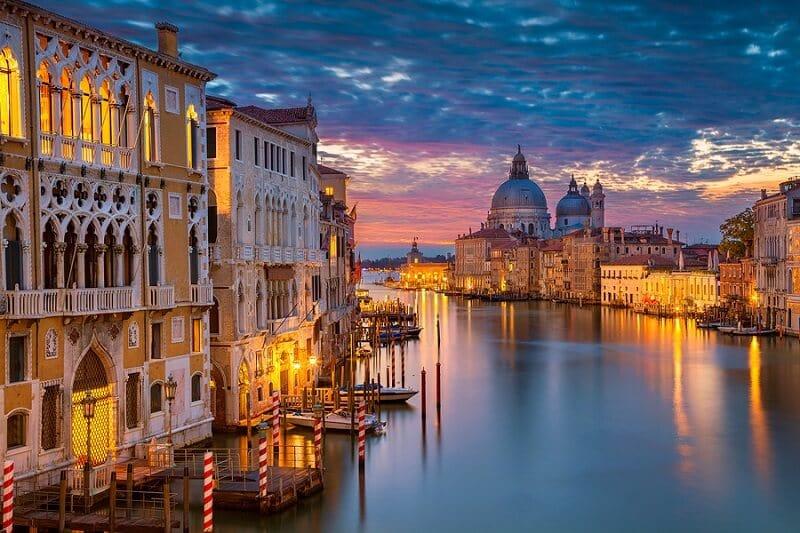 Vista da cidade de Veneza na Itália