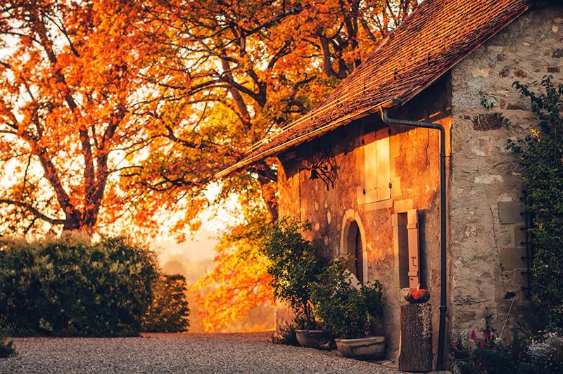 Paisagem de outono em Pisa