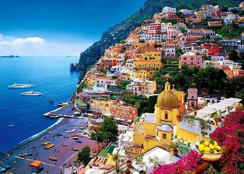 Vista da cidade de Amalfi na Itália