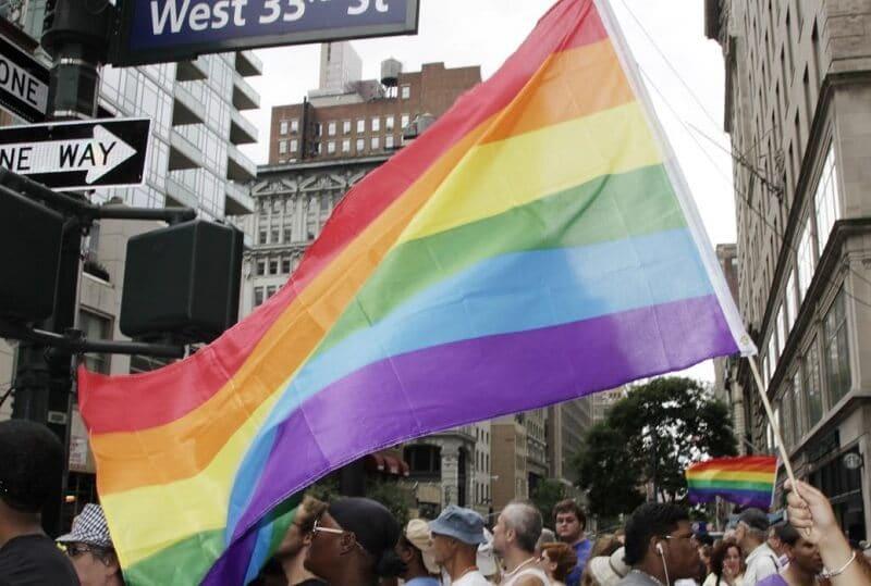 Bandeira do arco íris, símbolo do orgulho gay