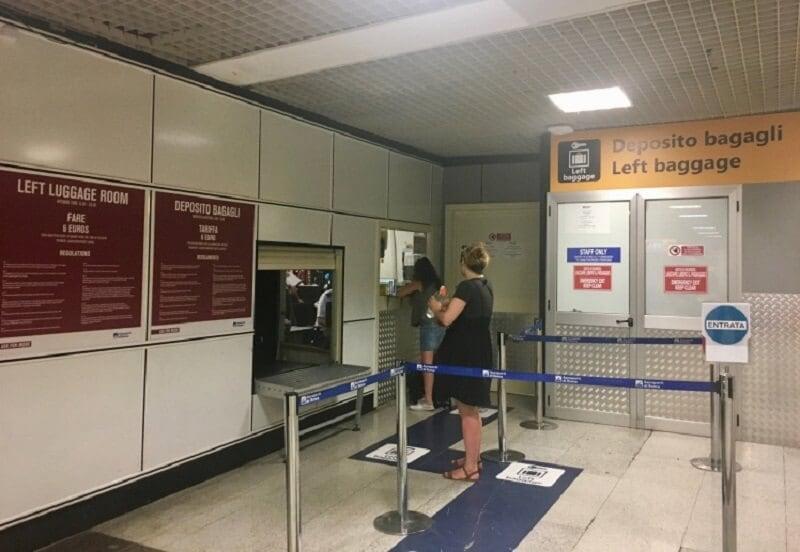 Guarda volumes no Aeroporto de Roma