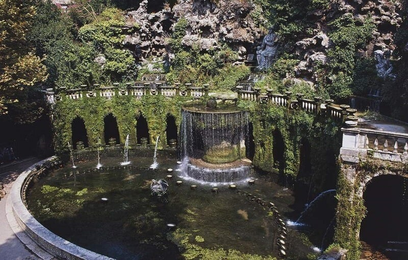 Fonte da Villa d'Este em Tivoli