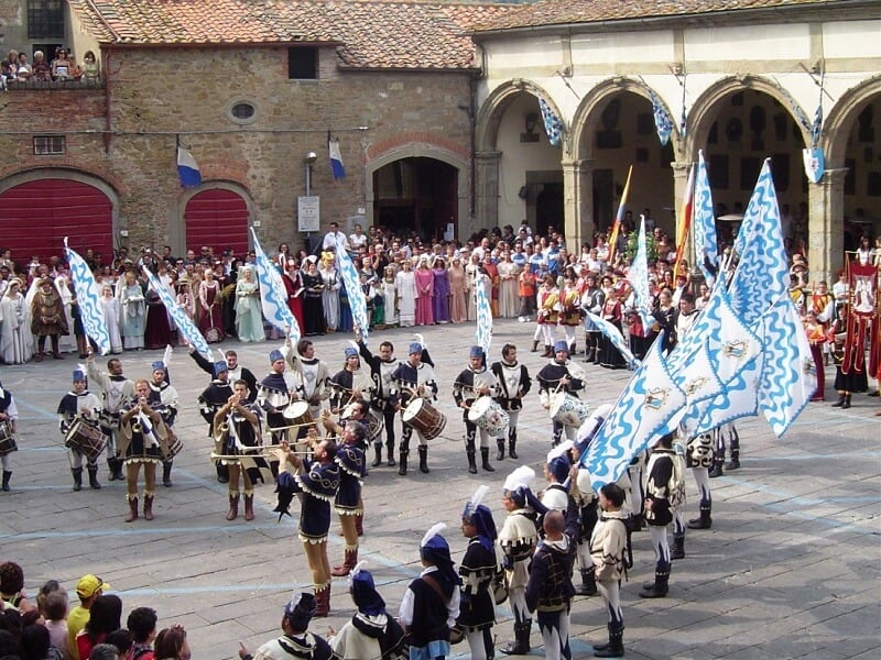 Festival Medieval em Toscana na Itália
