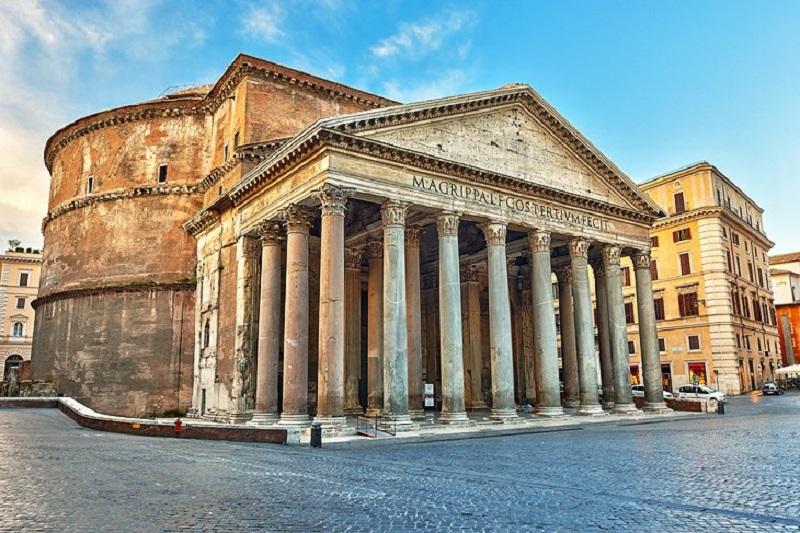 Entrada do Panteão de Roma