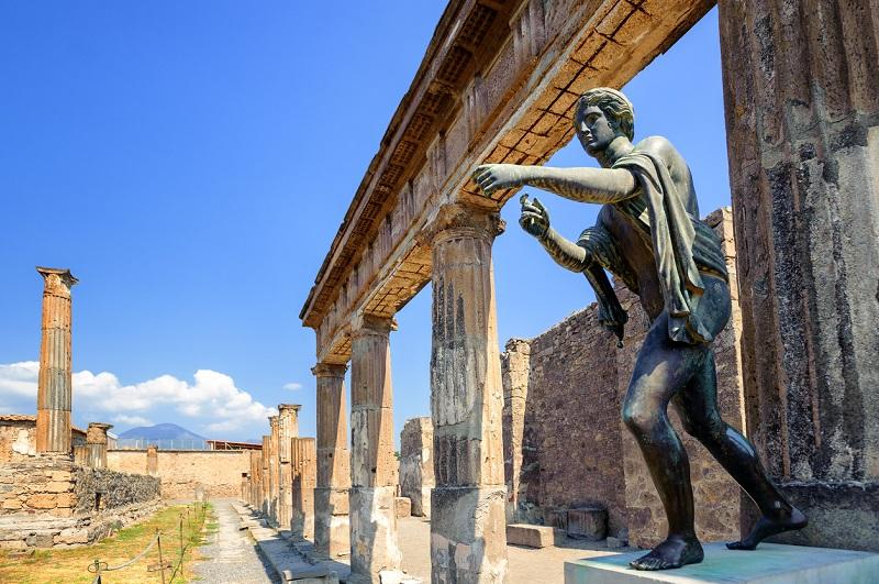 Ruínas em Pompeia