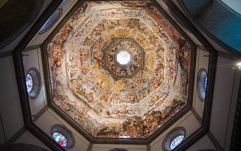 Cúpula desenha por Filippo Brunelleschi em Florença