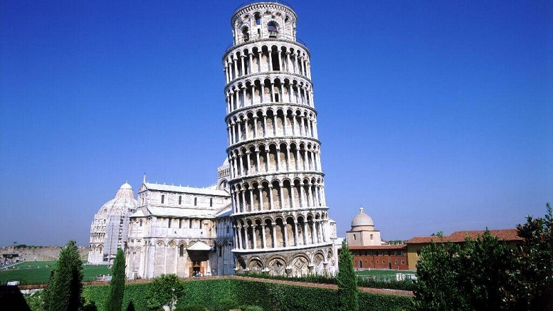 Famosa Torre de Pisa na Itália