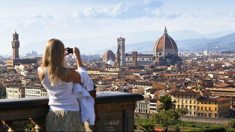 Visitante em Florença
