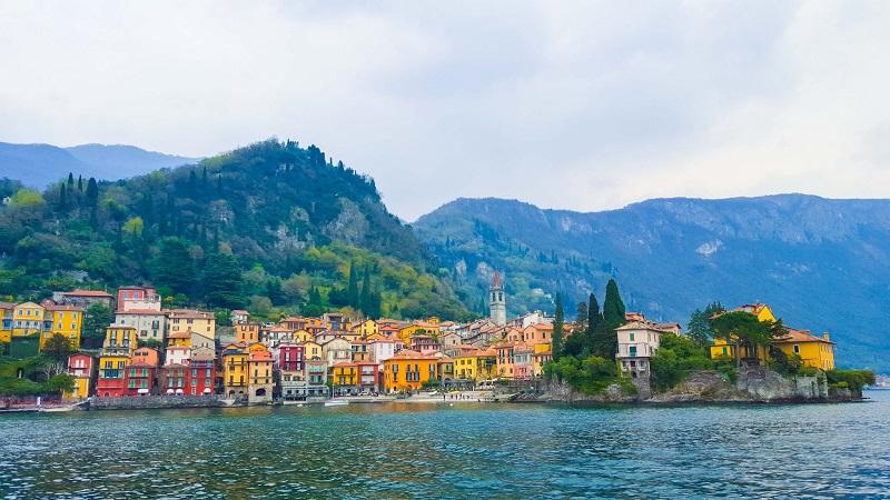 Vista do vilarejo Bellagio