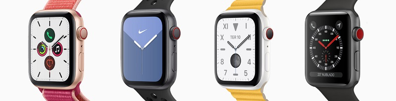 Apple Watches de diferentes modelos