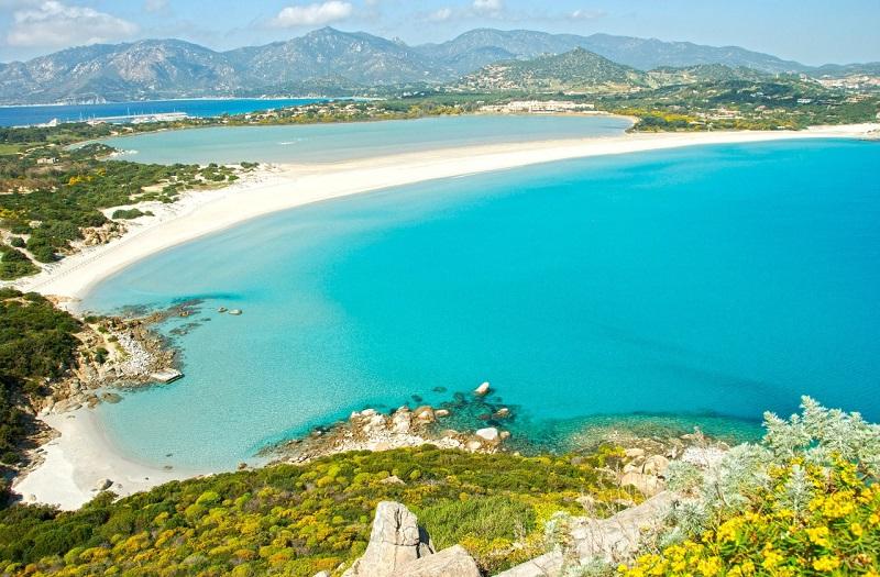 Praia Simus na Sardenha