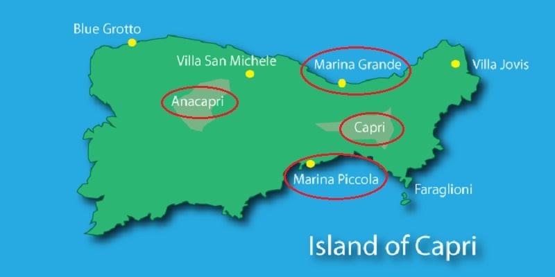 Mapa turístico de Capri