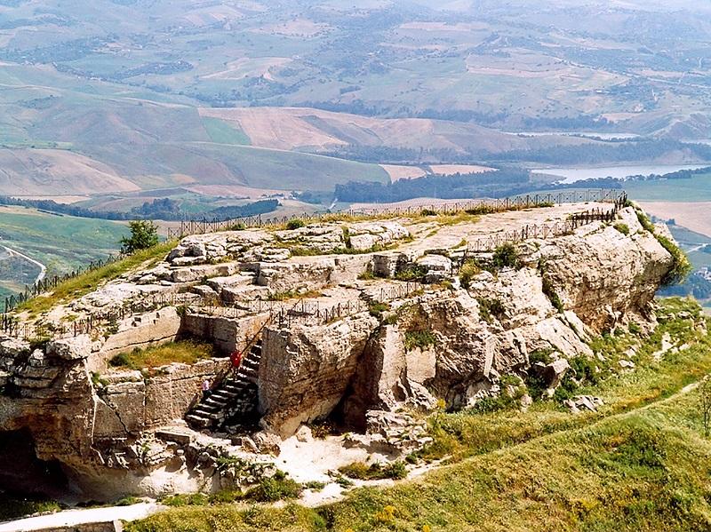 Rocca di Cerere em Enna