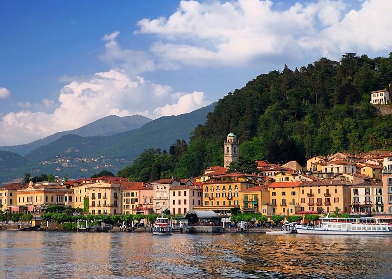 Vista de Como na Itália