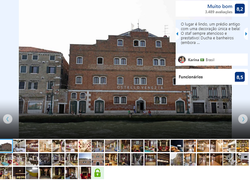 Fachada do Hostel Generator Venice em Veneza