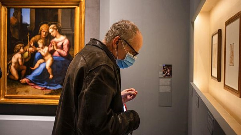 Museu durante pandemia na Itália
