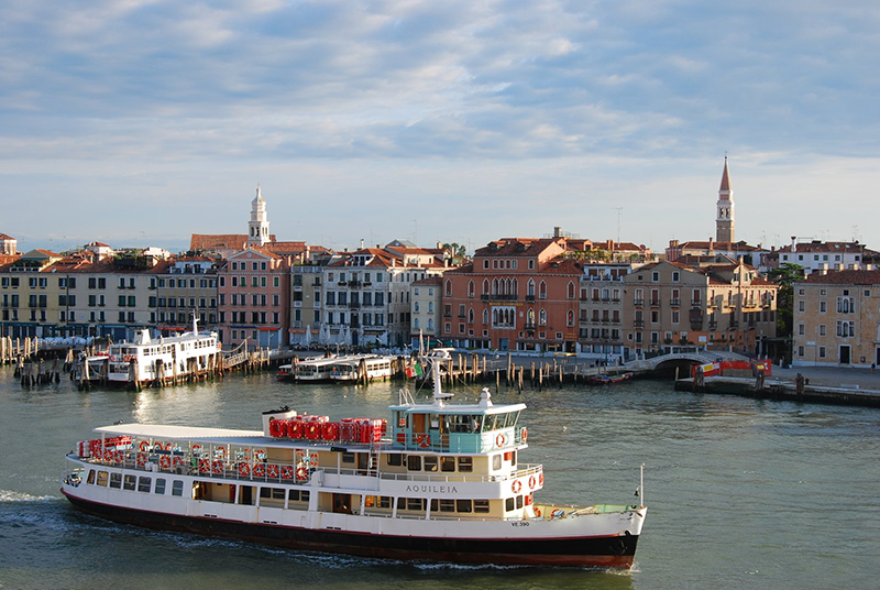 Porto de Veneza na Itália