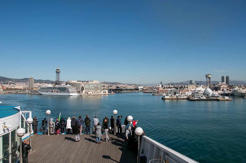 Porto de Barcelona na Espanha