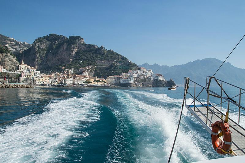 Viagem de ferry em Amalfi