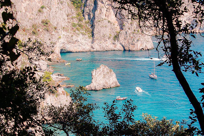 Beleza da Ilha de Capri na Itália