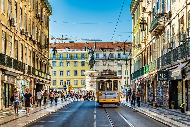 Cidade de Lisboa em Portugal