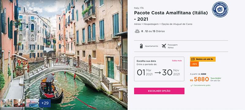 Pacote Hurb - Costa Amalfitana