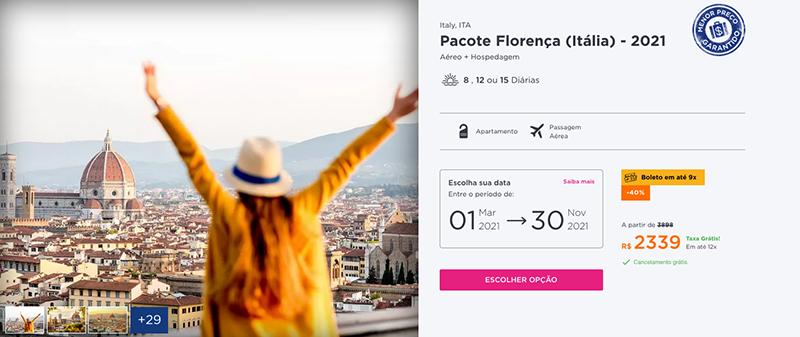 Pacote Hurb para Florença