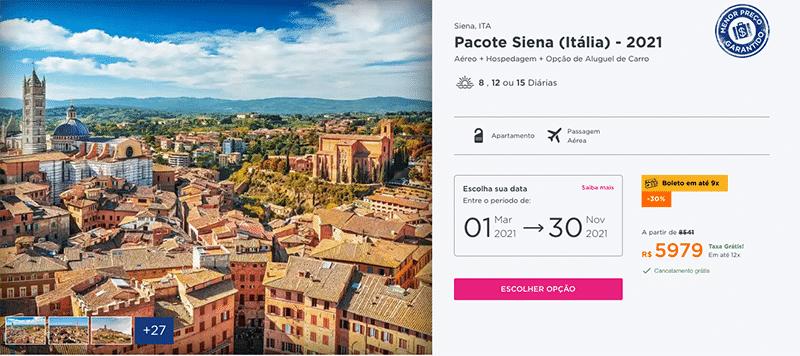 Pacote Hurb - Siena