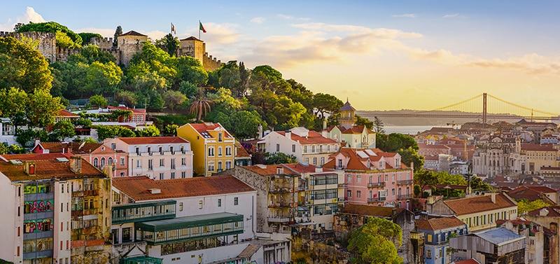 Pôr do Sol na cidade de Lisboa