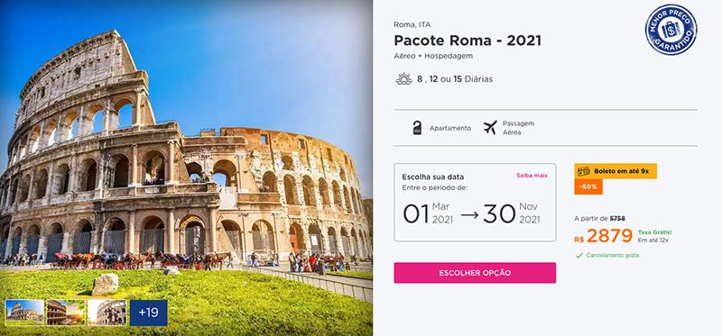 Pacorte Hurb para Roma