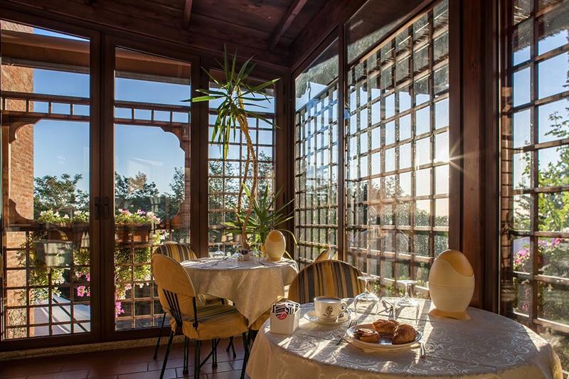 Restaurante do Hotel Arcobaleno em Siena