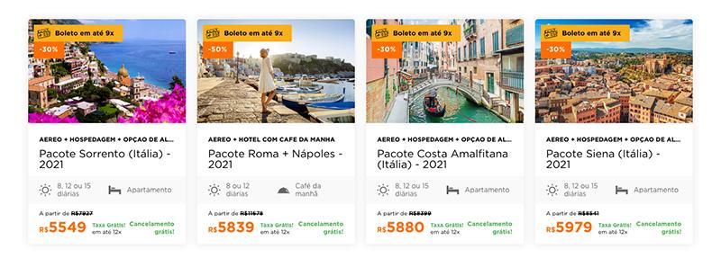 Pacotes Hurb para a Itália