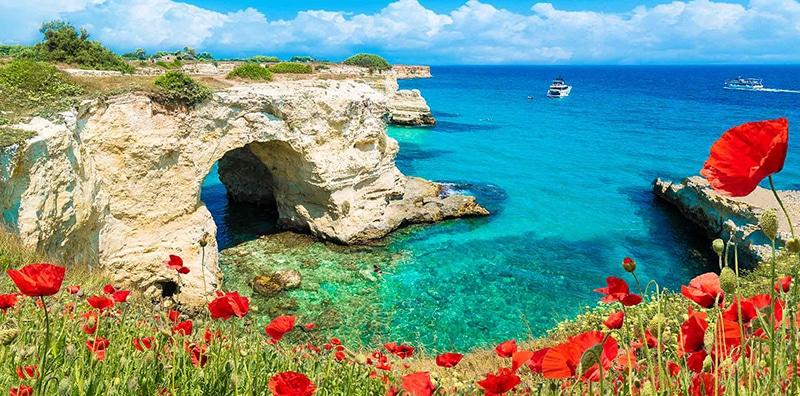 Paisagem de Puglia na Itália